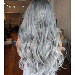 """Silver Gray Wavy  Hair Extensions 20"""""""
